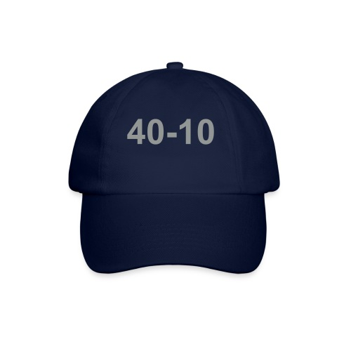 40-10 baseball-type cap, colour blue. motif silver grey - Baseball Cap