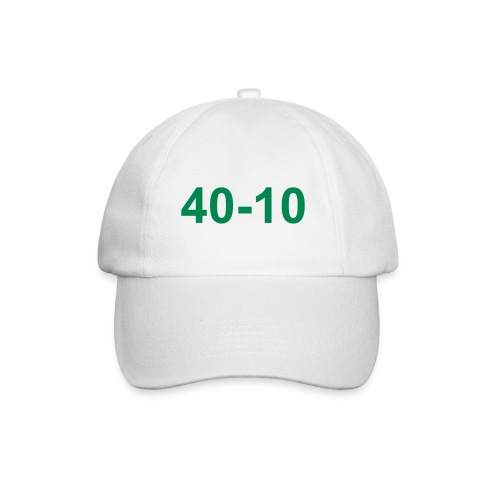 40-10 baseball-type cap, colour white. motif green - Baseball Cap