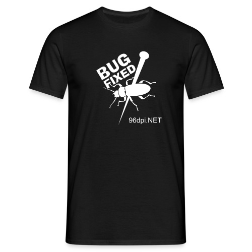 Bug Fixed - Black - Männer T-Shirt