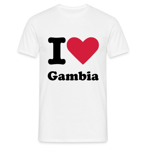 i love gambia ...and you? - Men's T-Shirt