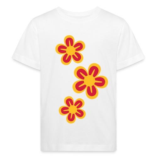 Ekologisk barntröja, blommor - Ekologisk T-shirt barn