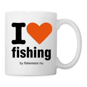 Mugg i love fishing - Mugg