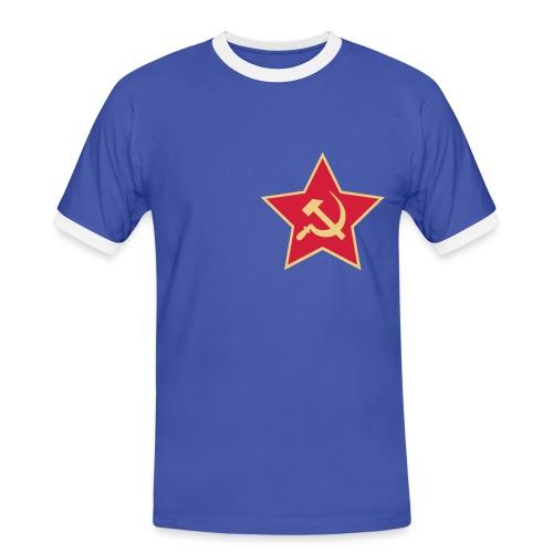 Red Star - Kontrast-T-skjorte for menn