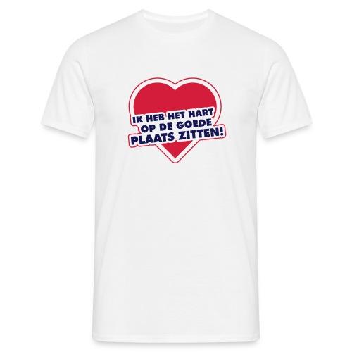 Hart op de goede plaats - Mannen T-shirt