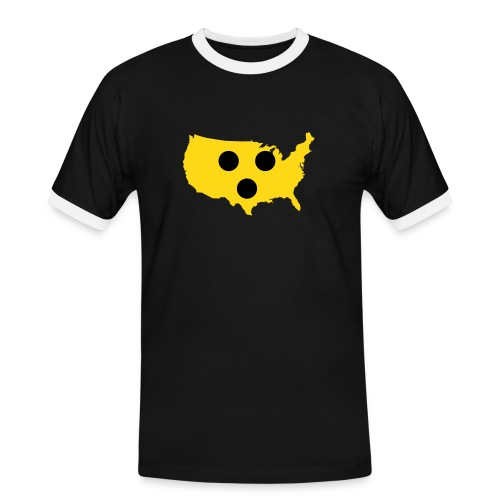 Amerika - Männer Kontrast-T-Shirt