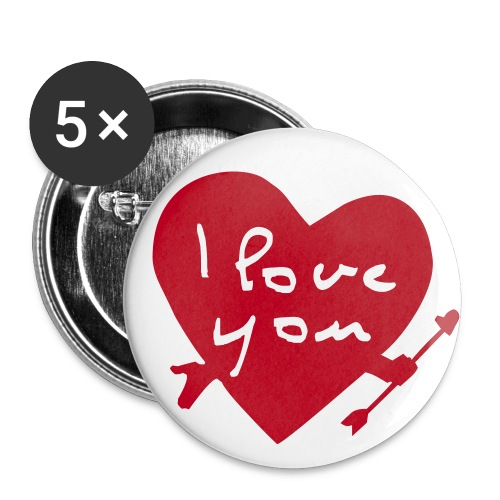 I Love You - Buttons large 56 mm