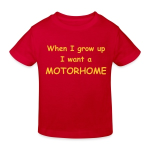 When I grow up, I want a Motorhome (Child) - Kids' Organic T-shirt