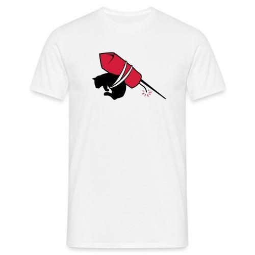 kitty rocket - T-skjorte for menn
