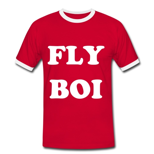 FLY BOI RED - Men's Ringer Shirt