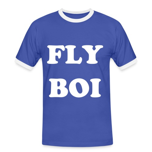 FLY BOI BLUE - Men's Ringer Shirt