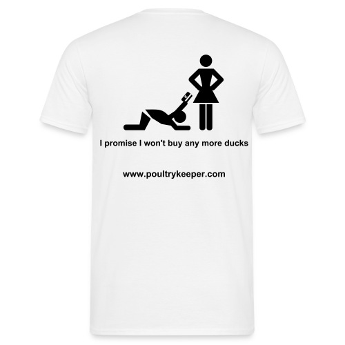 Poultrykeeper 'The Wife' T Shirt - White - Men's T-Shirt