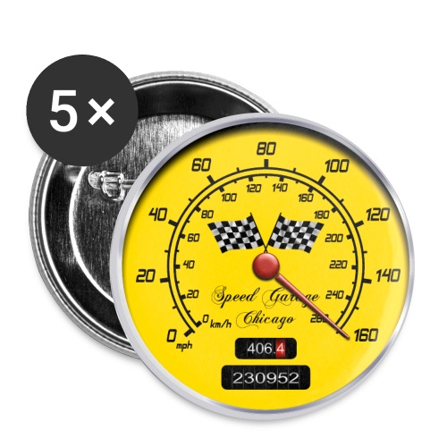 Racing Parts t-shirt - Buttons large 56 mm