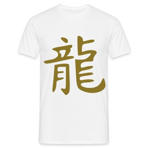 T SHIRT china dragon gold  - T-shirt Homme
