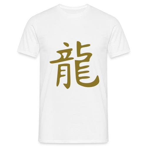 T SHIRT china dragon gold 2 - T-shirt Homme