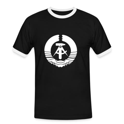 T-Shirt mit DDR Emblem - Männer Kontrast-T-Shirt