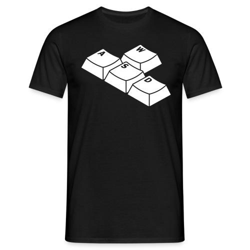 P-Spec WASD b/w with url  - Men's T-Shirt