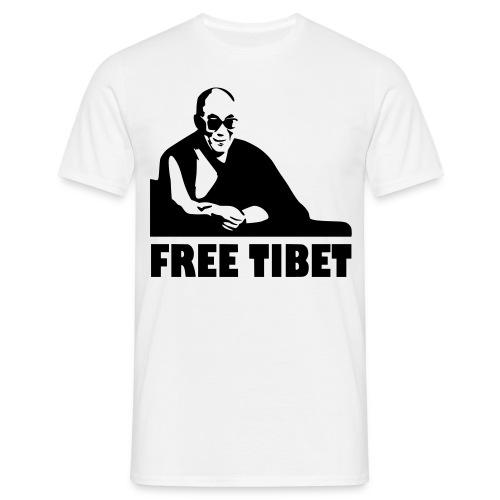Free Tibet! - T-skjorte for menn