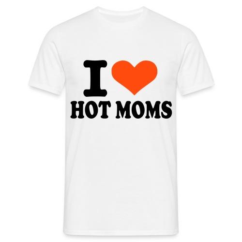 Hot moms love Shirt - T-skjorte for menn