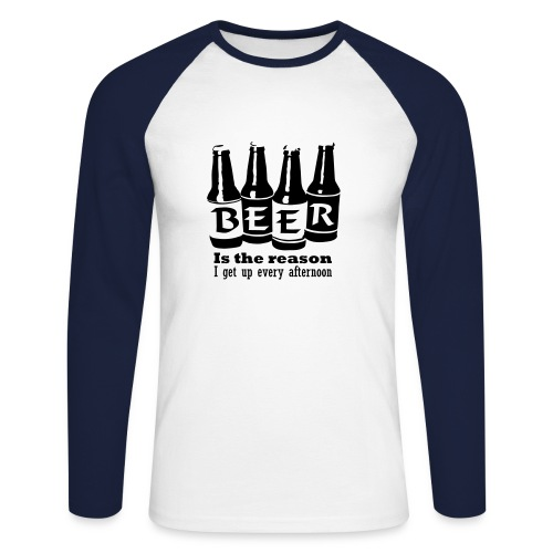 Beer - T-shirt baseball manches longues Homme