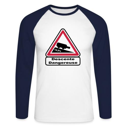 Descente dangereuse - T-shirt baseball manches longues Homme