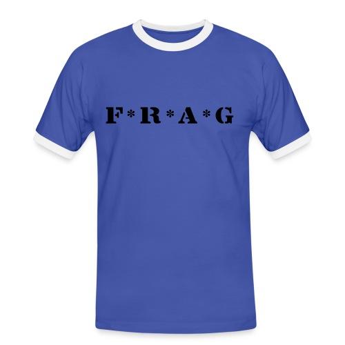 Frag Blau - Männer Kontrast-T-Shirt