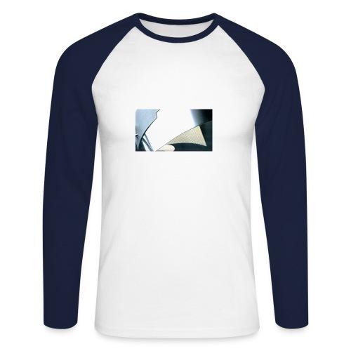 metal curves - Men's Long Sleeve Baseball T-Shirt