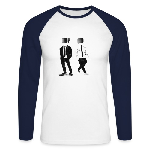 TV Heads - Men's Long Sleeve Baseball T-Shirt