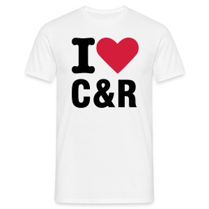I love C&R vit - T-shirt herr