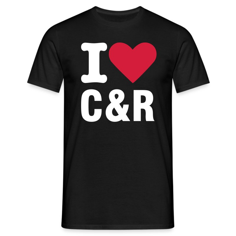 I love C&R svart - T-shirt herr