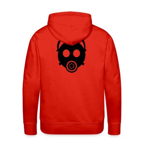 Mask-Sweat (Rücken-Motiv), rot, schwarzes Flock-Motiv - Männer Premium Hoodie
