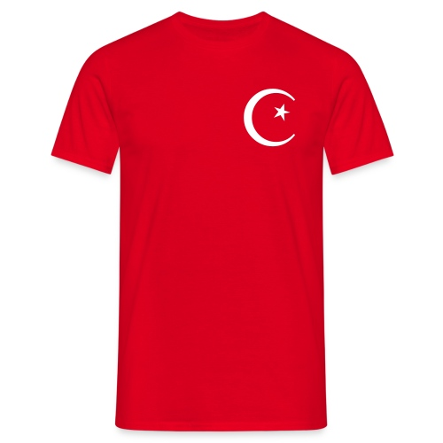 Turkye-Shirt, rot, weißes Flock-Motiv - Männer T-Shirt
