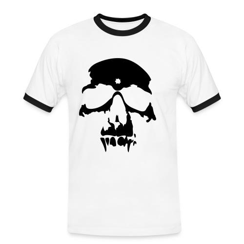 Skull - Kontrast-T-shirt herr