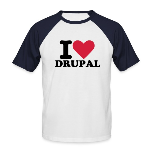 I Love Drupal - Kortermet baseball skjorte for menn