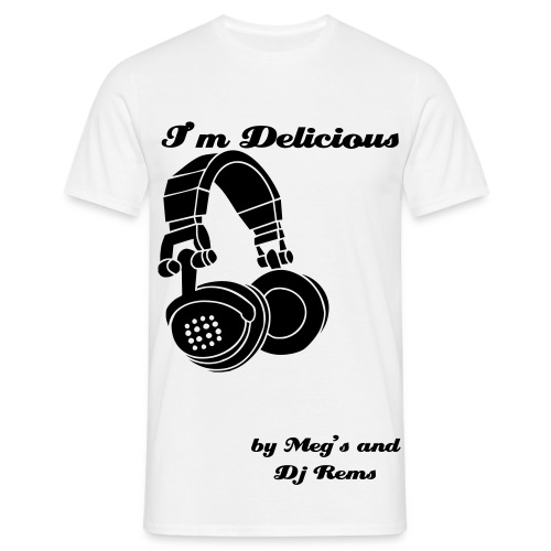 Tee shirt I'm Delicious casque blanc - T-shirt Homme