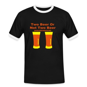 Two Beer or not two Beer - T-shirt contrasté Homme