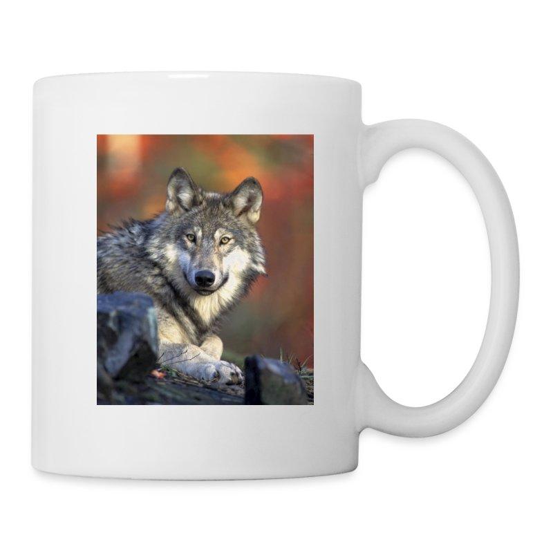 Tasse Loup - Mug blanc