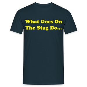 Stag T-shirts - Navy/Yellow - Men's T-Shirt