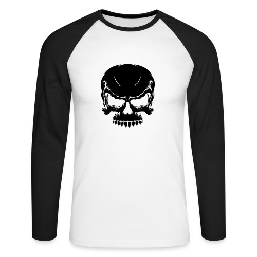 Skallegenser - Langermet baseball-skjorte for menn