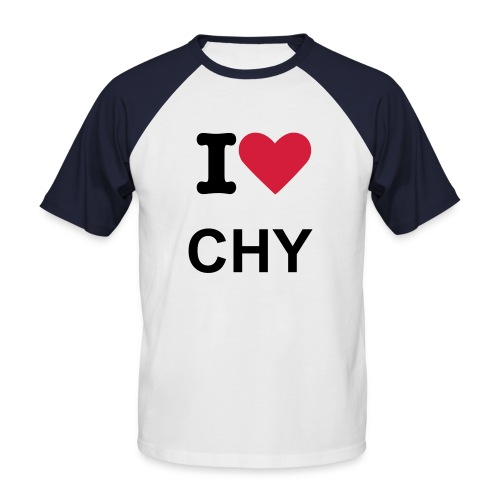 I Love Chambéry - T-shirt baseball manches courtes Homme