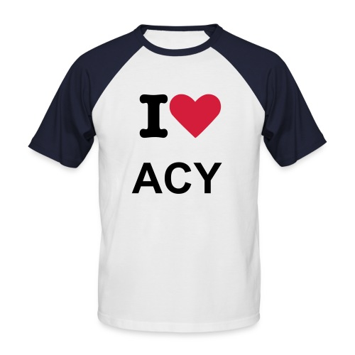 I Love Annecy - T-shirt baseball manches courtes Homme