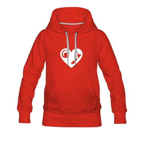 NZ Heart Hoodie - Women's Premium Hoodie
