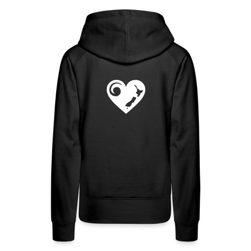 NZ Heart Hoodie (back) - Women's Premium Hoodie