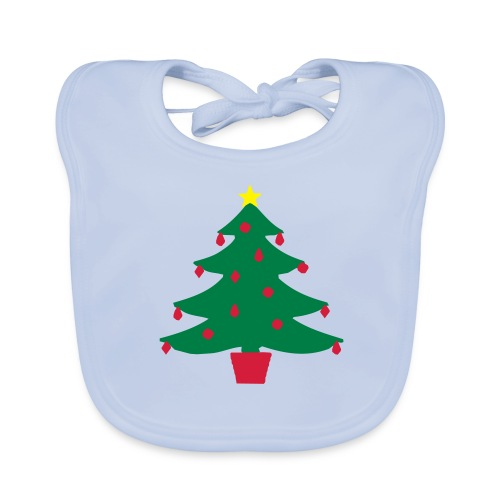 Christmas Tree Baby Bib - Baby Organic Bib