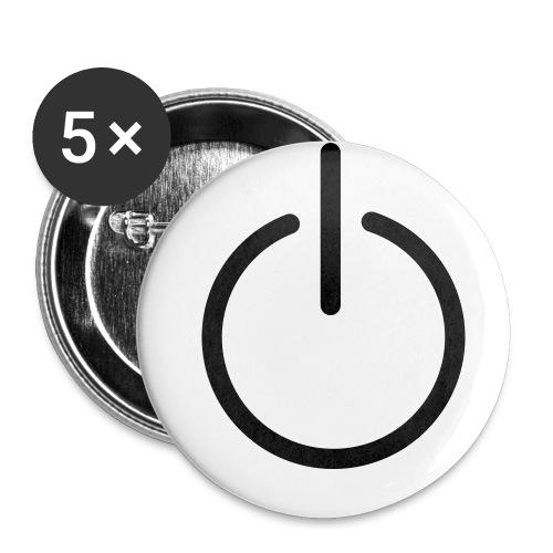 buttons 32 mm 5 pack - Middels pin 32 mm (5-er pakke)