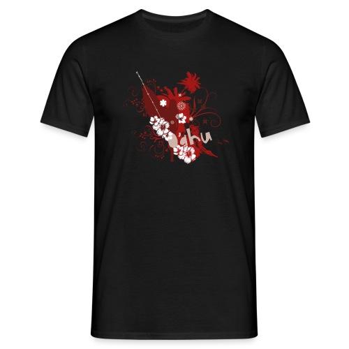 O'ahu Surfgirl Flower black - Männer T-Shirt