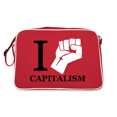 Red/white I fight Capitalism Bags