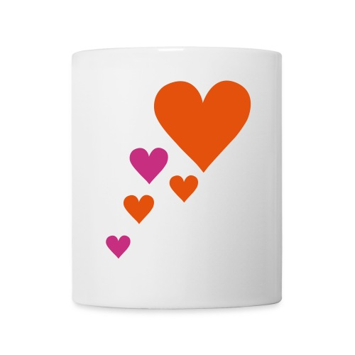 tasse coeurs - Mug blanc