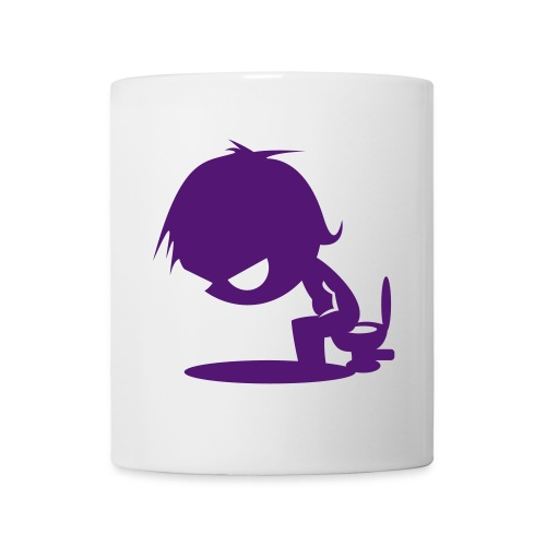 tasse sur le pot - Mug blanc