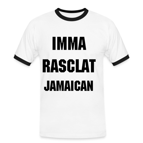 Imma Rasclat Jamaica (Yard Talk) - Men's Ringer Shirt