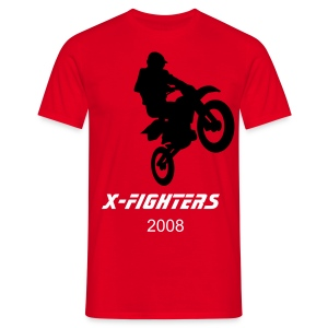 x-fighters 08 red T - Men's T-Shirt